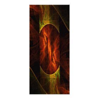 Cartão da cremalheira da arte abstracta da selva 10.16 x 22.86cm panfleto