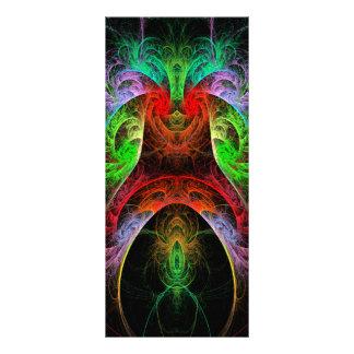 Cartão da cremalheira da arte abstracta de 10.16 x 22.86cm panfleto