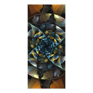 Cartão da cremalheira da arte abstracta do 10.16 x 22.86cm panfleto