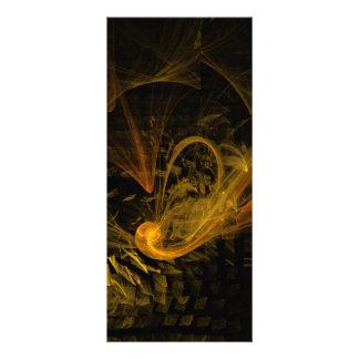 Cartão da cremalheira da arte abstracta do limite 10.16 x 22.86cm panfleto