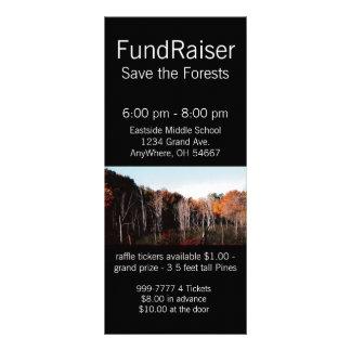 Cartão da cremalheira da floresta