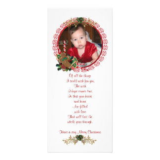 Cartão da cremalheira da foto do Natal