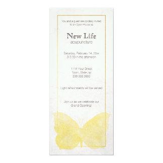 Cartão da cremalheira da grande inauguração para o convite 10.16 x 23.49cm