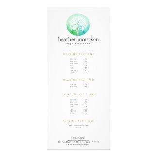 Cartão da cremalheira da ioga e do bem-estar da 10.16 x 22.86cm panfleto