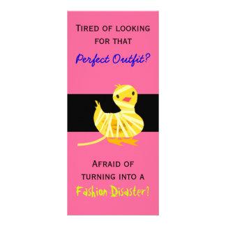 Cartão da cremalheira da loja de vestido modelos de panfletos informativos