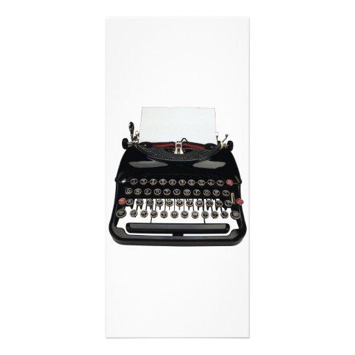 Cartão da cremalheira da máquina de escrever do vi planfeto informativo colorido