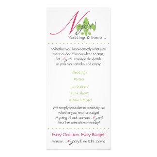 cartão da cremalheira da N-alegria 10.16 X 22.86cm Panfleto