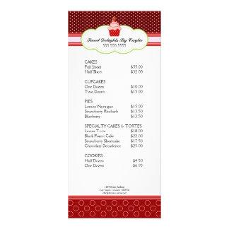 Cartão da cremalheira da padaria do cupcake da mor planfetos informativos coloridos