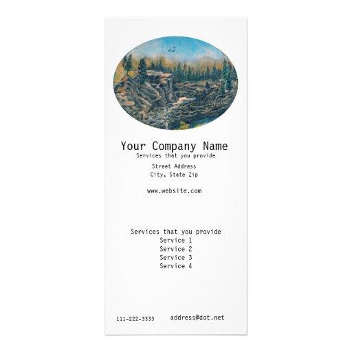 Cartão da cremalheira da propaganda modelos de panfletos informativos