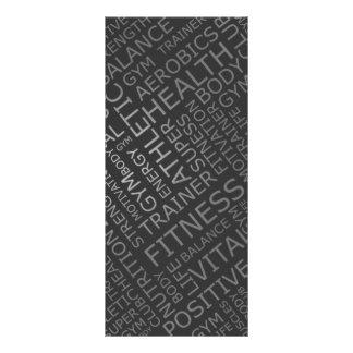 Cartão da cremalheira da tabela de preços do 10.16 x 22.86cm panfleto