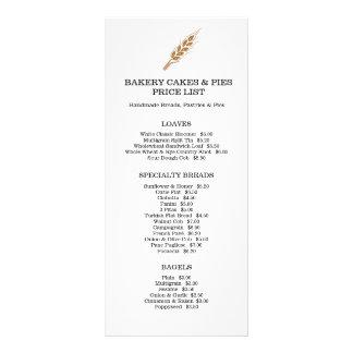 Cartão da cremalheira da tabela de preços dos bens 10.16 x 22.86cm panfleto