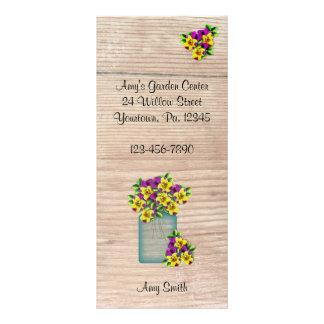 Cartão da cremalheira das violas do frasco de 10.16 x 22.86cm panfleto