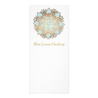 Cartão da cremalheira de Lotus azul Modelo De Panfleto Informativo