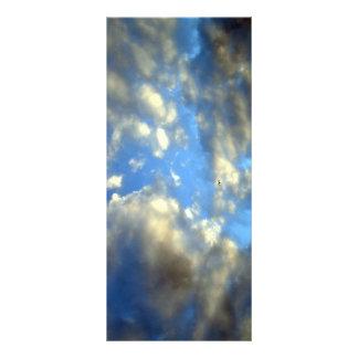 Cartão da cremalheira de nuvens panfleto personalizado