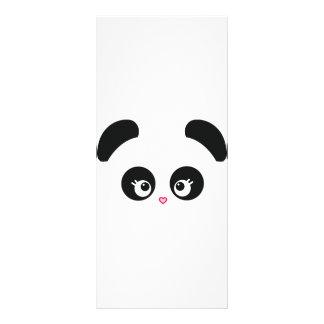 Cartão da cremalheira de Panda® do amor 10.16 X 22.86cm Panfleto