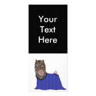 Cartão da cremalheira do animal de estimação dos r planfeto informativo colorido
