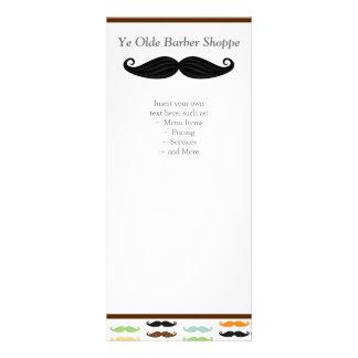 Cartão da cremalheira do bigode modelo de panfleto informativo