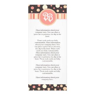 Cartão da cremalheira do boutique do bebê