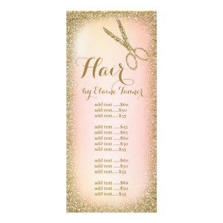 Cartão da cremalheira do cabeleireiro do brilho do 10.16 x 22.86cm panfleto