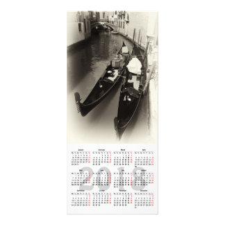 cartão da cremalheira do calendário de Veneza 2018