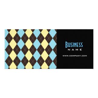 Cartão da cremalheira do design de Argyle Panfleto Informativo Personalizado