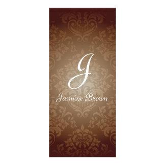Cartão da cremalheira do design do damasco panfleto informativo