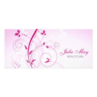 Cartão da cremalheira do design floral panfletos informativos personalizados