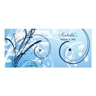 Cartão da cremalheira do design floral panfleto personalizado