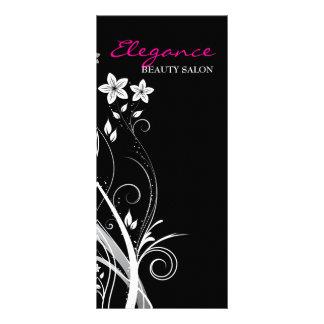 Cartão da cremalheira do design floral panfleto informativo personalizado