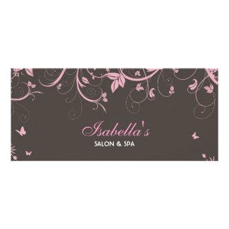 Cartão da cremalheira do design floral planfetos informativos coloridos