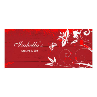 Cartão da cremalheira do design floral panfleto informativo