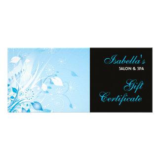 Cartão da cremalheira do design floral modelo de panfleto informativo