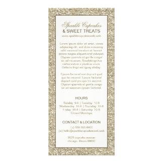 Cartão da cremalheira do encanto do olhar do brilh panfleto personalizado