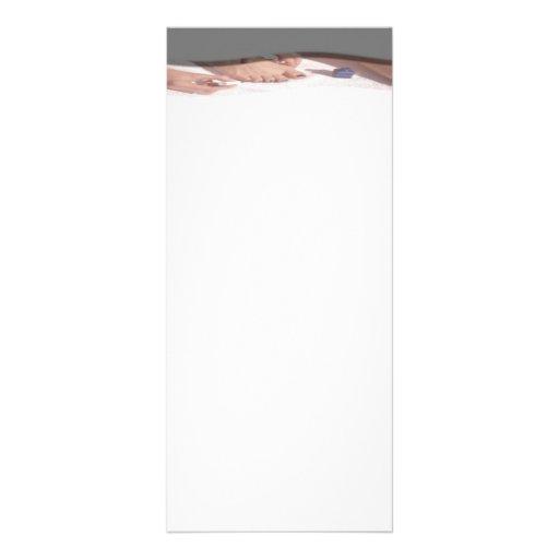 Cartão da cremalheira do Manicure Panfletos Informativos Personalizados