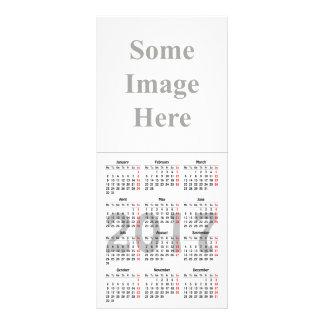 cartão da cremalheira do modelo de 2017 10.16 x 22.86cm panfleto