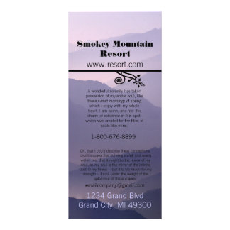 Cartão da cremalheira do recurso de Smokey Mountia Panfletos Informativos