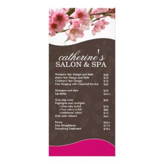 Cartão da cremalheira do salão de beleza e dos ter panfletos informativos personalizados