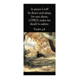 Cartão da cremalheira do salmo do paraíso de