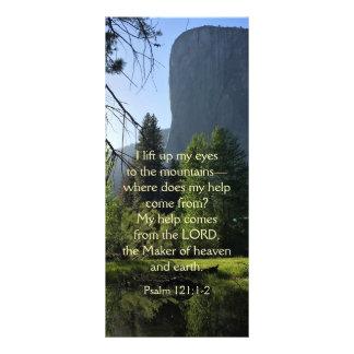 Cartão da cremalheira do salmo do parque nacional