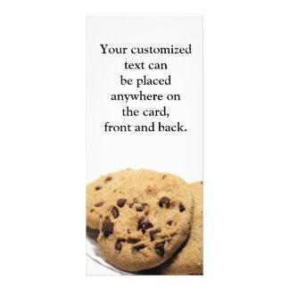 Cartão da cremalheira dos biscoitos 10.16 x 22.86cm panfleto