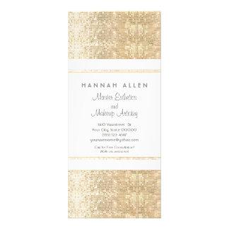 Cartão da cremalheira dos Sequins do ouro do falso Modelo De Panfleto Informativo