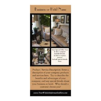 Cartão da cremalheira para hotéis, negócios, resta modelos de panfletos informativos