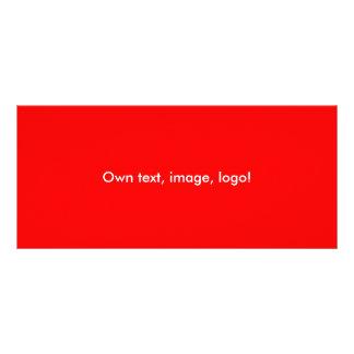 Cartão da cremalheira Vermelho-Alaranjado