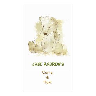 Cartão da criança cartão de visita