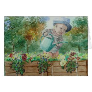 Cartão da criança de flor - personalizado