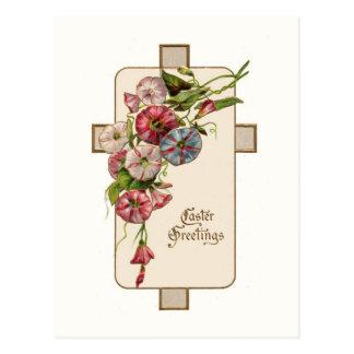Cartão da cruz da páscoa do vintage cartão postal