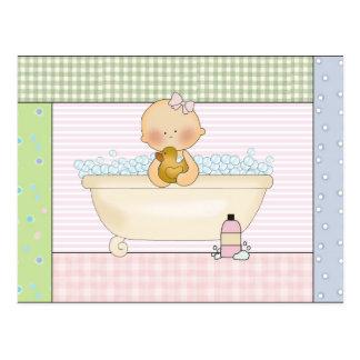 Cartão da cuba do bebê