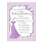 Cartão da dama de honra do vestido da orquídea convite personalizados