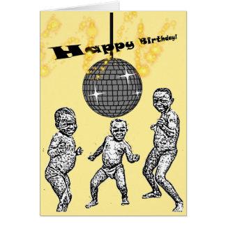 Cartão Da dança africana do bebê do feliz aniversario