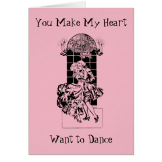 Cartão da dança do coração